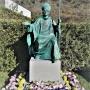傅铁山追思铜雕揭像在北京九公山长城纪念林举行